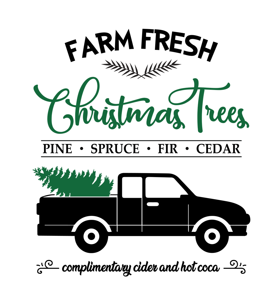 Farm fresh christmas trees svg, dxf,eps,png, Digital Download