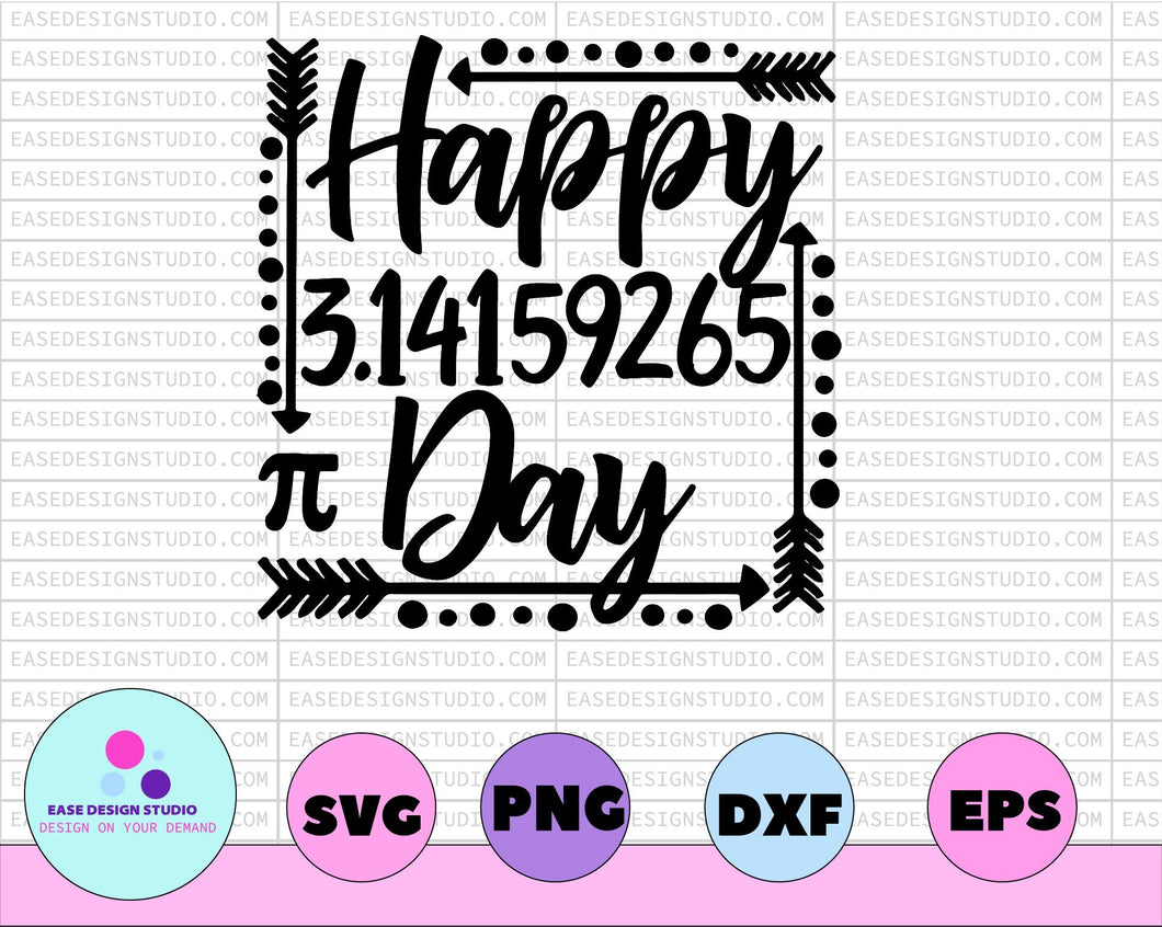 Teacher SVG DXF JPEG Silhouette Cameo Cricut math teacher 3.14159265 svg School svg teacher iron on math svg math pie svg happy pi day shirt - EaseDesignStudio