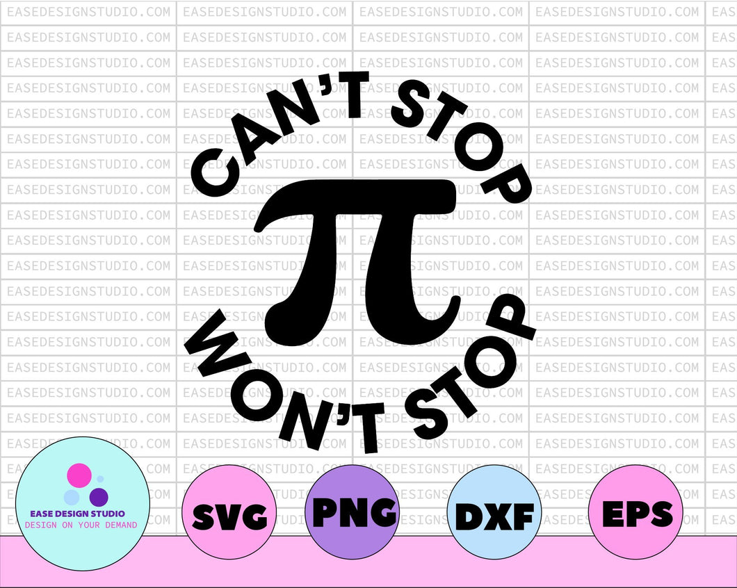 Pi svg, Happy Pi day svg, Can't stop Pi Won't stop svg, 3.14 svg, Teacher svg, Pi day svg, Math svg, Pi simbol svg,Pi day svg, school svg - EaseDesignStudio
