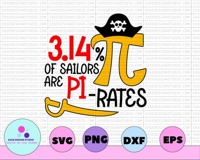Pi Day SVG - png - dxf - ai - eps - fcm - Silhouette - Cricut - Scan N Cut - Elementary School - Math Teacher SVG - EaseDesignStudio