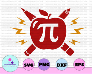 Pi svg, Happy Pi day svg, 3.14 svg, Teacher svg, Apple teachers svg, Math svg, Pi simbol svg, Pi day svg, math svg, school svg, teacher svg - EaseDesignStudio