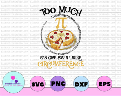 Too Much Pi Can Give You A Large Circumference, Pi Day svg, Math Teacher svg, Pi Day, Funny Math Shirt, Mathematics Shirt - EaseDesignStudio