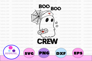 Boo boo crew svg, dxf,eps,png, Digital Download