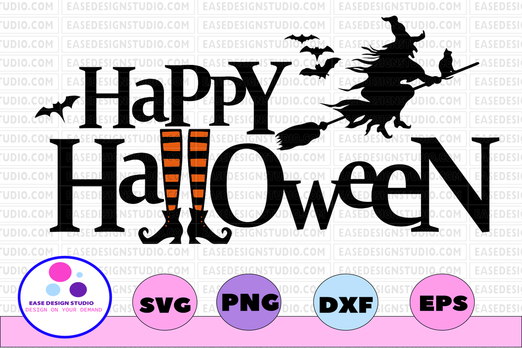 Happy halloween svg, dxf,eps,png, Digital Download