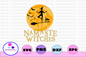 Namaste withches svg, dxf,eps,png, Digital Download