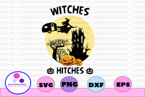 Witches with hitches svg, dxf,eps,png, Digital Download