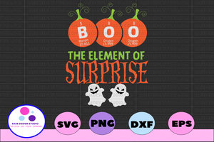 Boo the element of surprise svg, dxf,eps,png, Digital Download