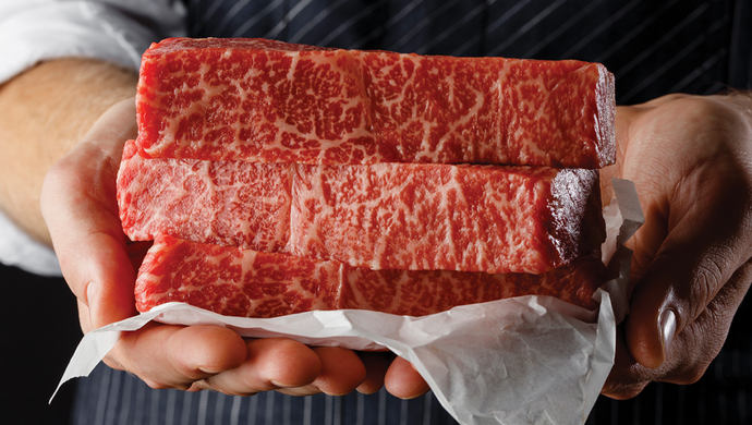 The melt-in-your-mouth texture of Wagyu