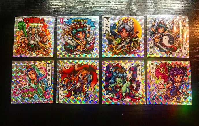 V2344 P3 盤天妖記  1 set 8pcs  sticker 48mmx 48mm