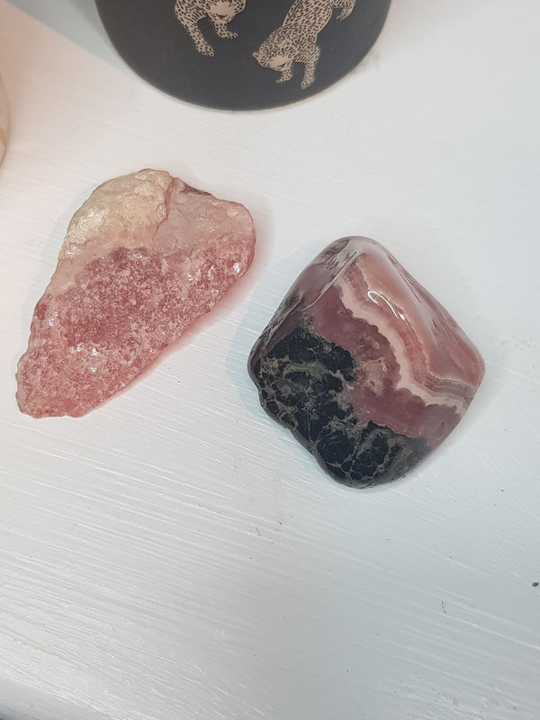 Rhodochrosite Rough Cut Crystal