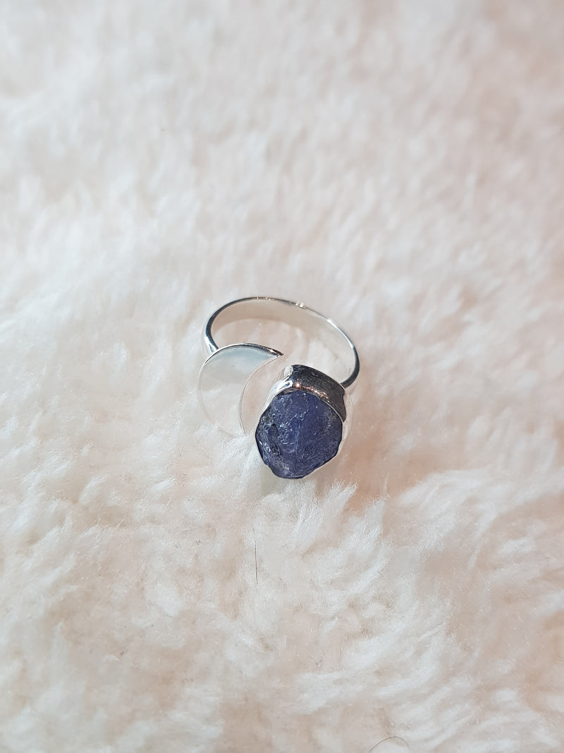 Blue Tanzanite Adjustable Ring