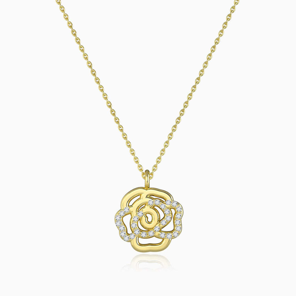 Sunny Rose Style Moissannite Pendant Necklace