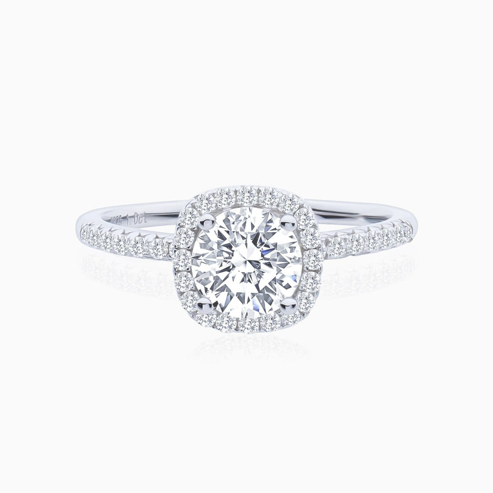 Round Moissanite Engagement Rings Six Prong Solitaire Stone 3 Carat