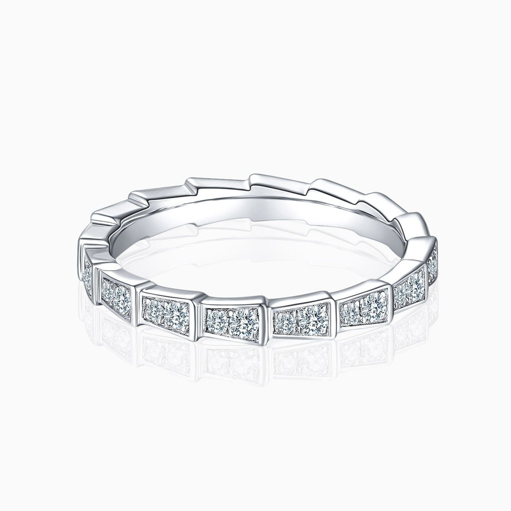 Moissanite Wedding Bands Micro Pave With Side Accents Stones