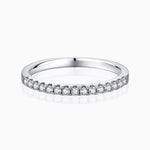 Women's Moissanite Wedding Bands Micro Pave With Side Accents Stones Stackable Rings for Woman