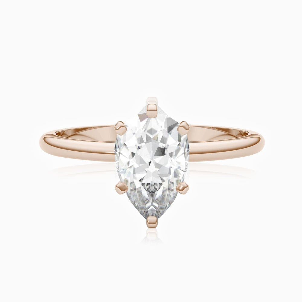 Moissanite Engagement Rings Six Prong Pear Shaped Solitaire 1.5 Carat