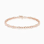 Round Bezel Set Moissanite Tennis Bracelet Gold Color 2.16 Carat