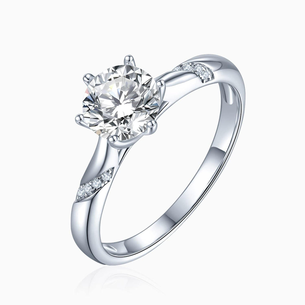 Moissanite Engagement Rings Six Prong Pear Shaped Solitaire Rose Gold Color 1.5 Carat