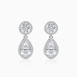 Teardrop Pendant 5A Grade Cubic Zirconia Earrings Halo Zircon Gemstone Sterling Silver Trifairy 2021 New Designer Style