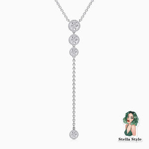 Trifairy 2021 New Designer Style Moissanite Necklace Four Main Gemstones Pendant Halo Pave With Side Stones