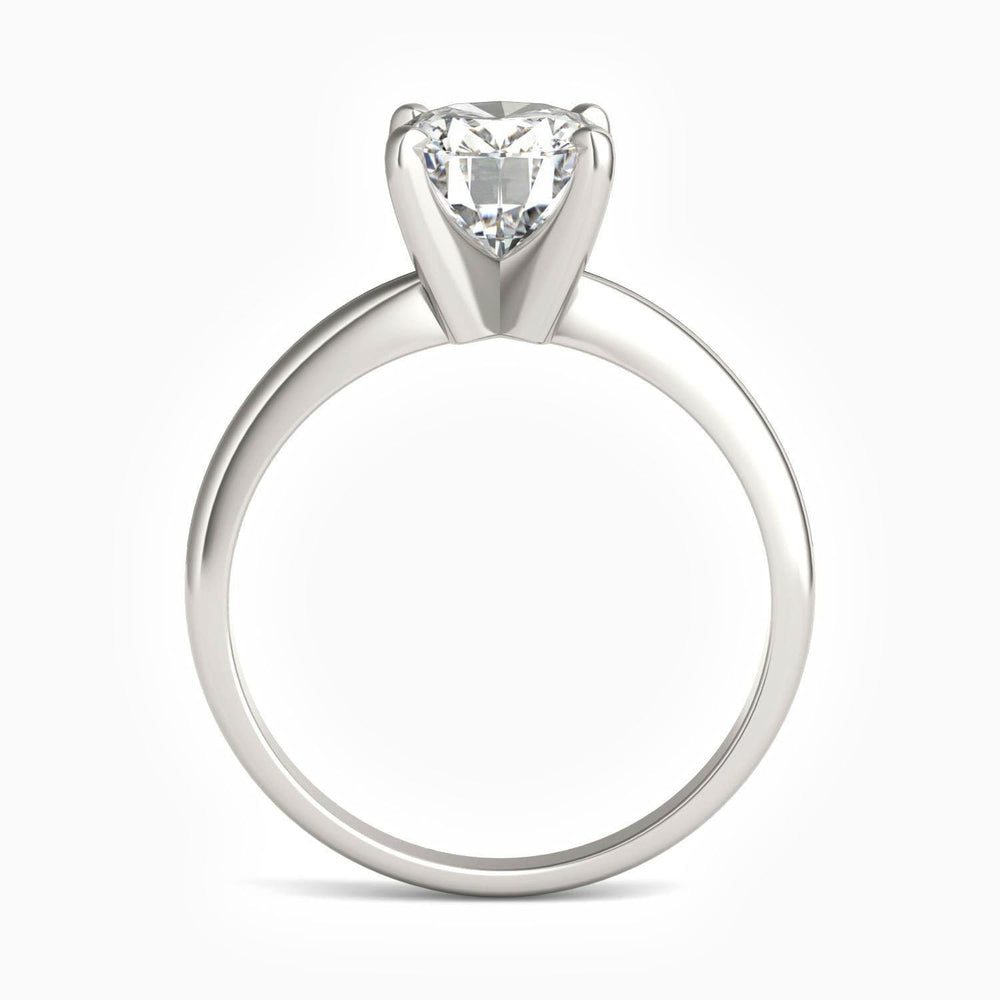 2.1 Carat Oval Four Prong Solitaire Moissanite Engagement Rings Stackable Rings Sterling Silver Band White Gold Plating