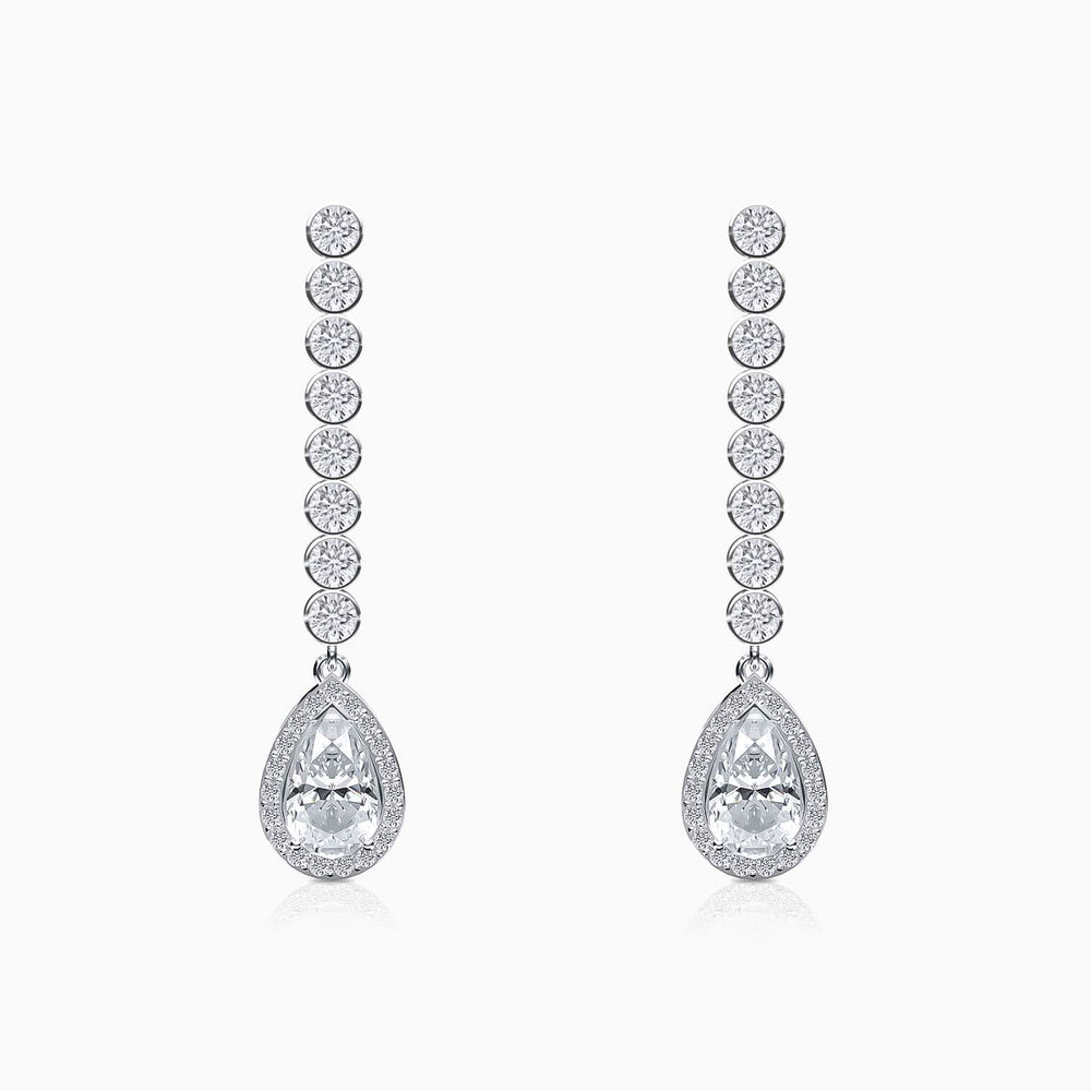 5A Grade Cubic Zirconia Earrings Halo Solitaire Gemstone Bezel Set Tassel Pendant Sterling Silver Trifairy 2021 New Designer Style