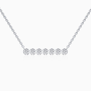 Trifairy 2021 New Designer Style Round Moissanite Necklace Four Prong Setting Bezel Set Solitaire Pendant