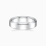 Mens Wedding Bands 925 Sterling Silver White Gold Color Ring Width 5.5mm