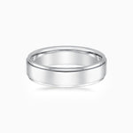 5.5mm Width Step Style Mens Wedding Ring 925 Sterling Silver Band White Gold Color