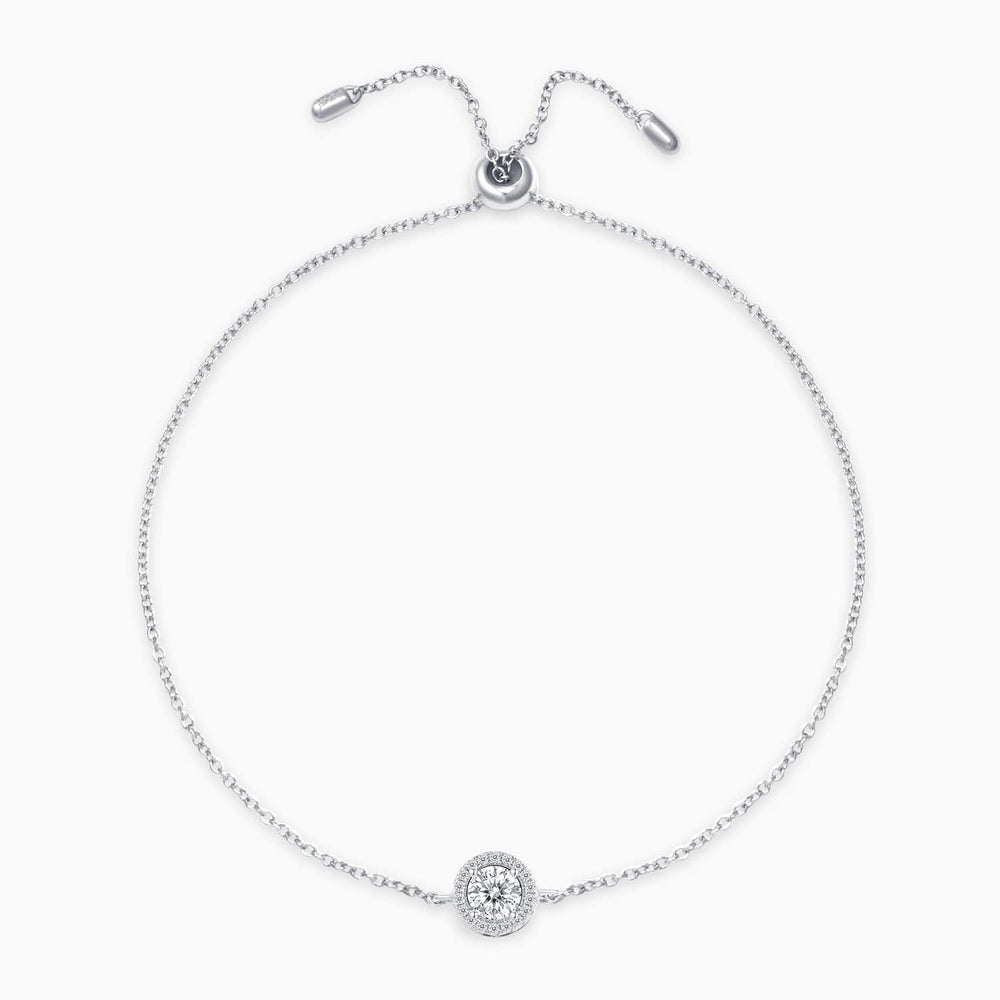 Load image into Gallery viewer, Moissanite Bracelet With Halo Round Solitaire Pendant 925 Sterling Silver 1 Carat