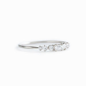 Moissanite City Lights Band Wedding Bands Womens High End Custom Jewelry