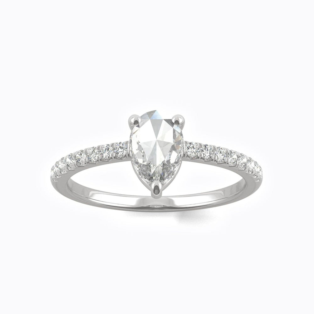 Moissanite engagement rings solitaire with side accents stones