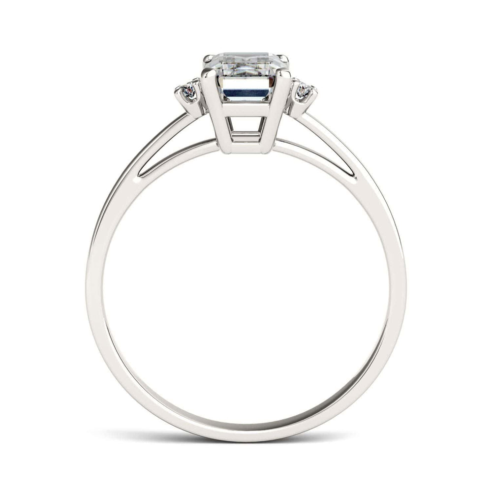 Load image into Gallery viewer, Moissanite Engagement Rings Three Stones 0.62 Carat