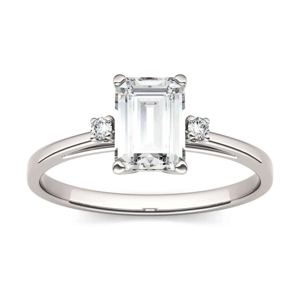 Load image into Gallery viewer, Moissanite Engagement Rings Four Prong Setting