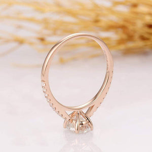 Moissanite engagement rings sustainable fine jewelry