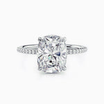 Trifairy D Grade Moissanite Solitaire Engagement Rings With Side Accents Stones 4.5 Carat Cushion Cut Women's Wedding Bands