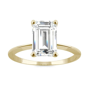 Moissanite engagement rings solitaire ring emerald cut