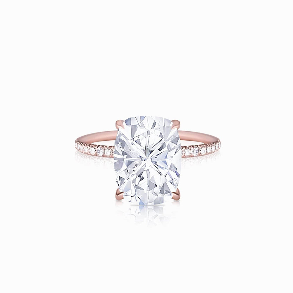 Moissanite engagement rings solitaire pave 4.5 carat
