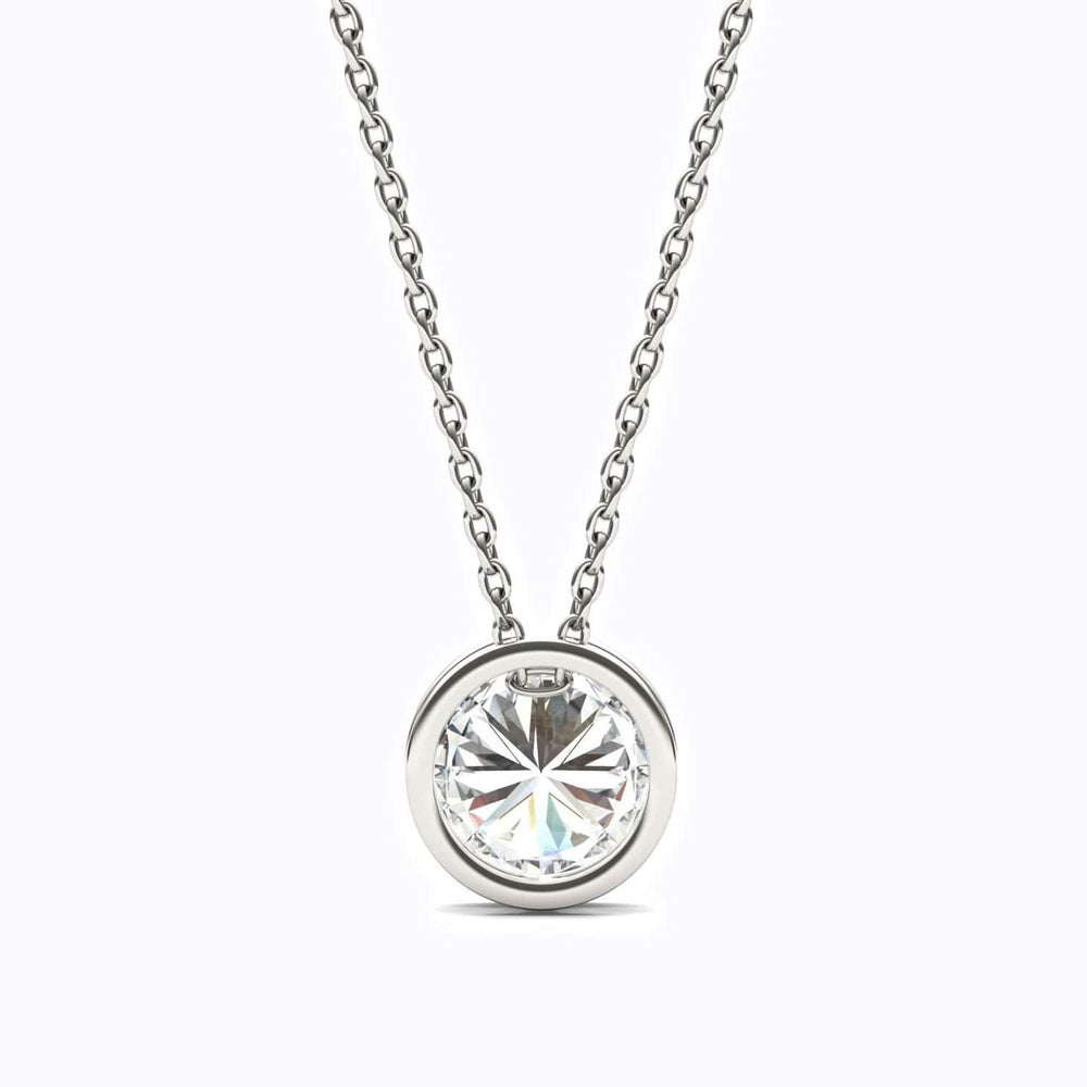 Moissanite Necklace 925 Sterling Silver Dainty Jewelry