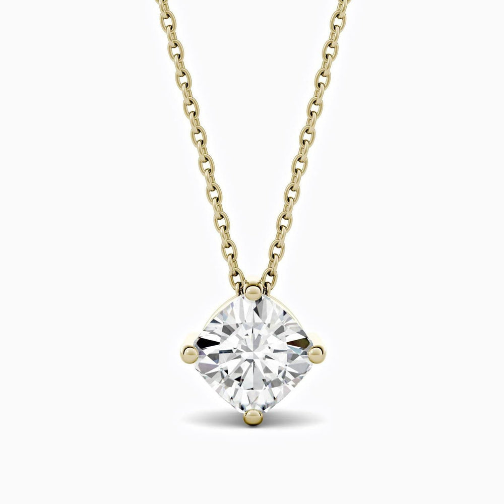 Moissanite Necklace With Four Prong Round Solitaire Pendant 0.5 Carat