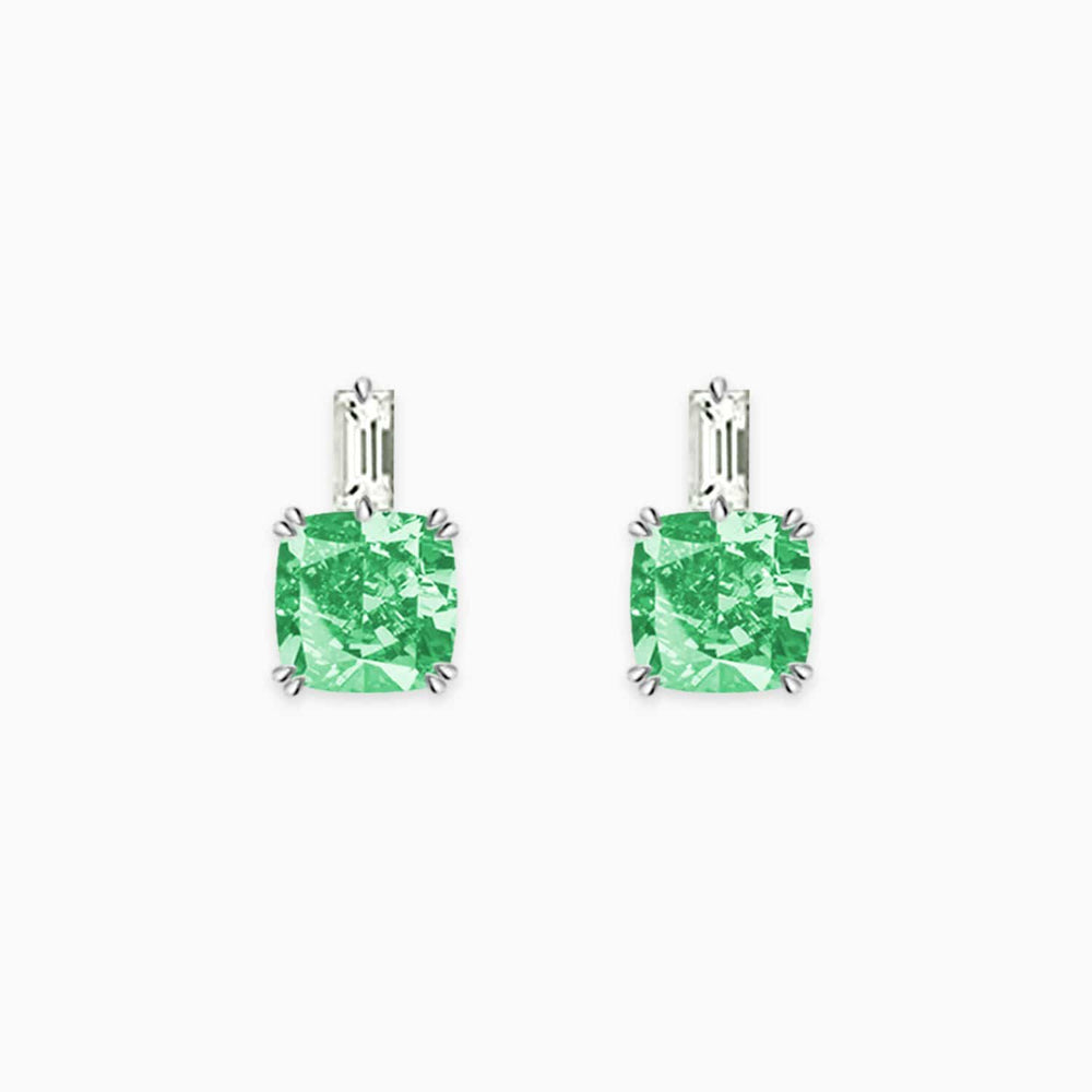 Fairy Magic Green Hope Gemstone Pendant Earrings