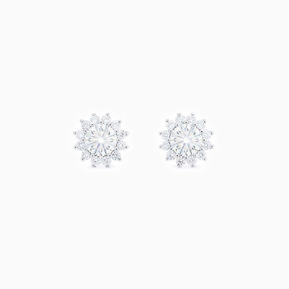 Vintage Floral Moissanite Earrings Bridal Gifts for Women Sterling Silver