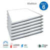 LED Edgelit Ceiling Panel Tile- 60x60cms 40W, 3600lm 6000K (Pack of 6) - ENER-J Smart Home
