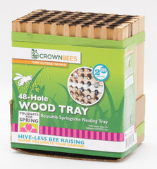 Crown Bees Wooden Nesting Block