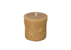 Decorative Pillar Beeswax Candle