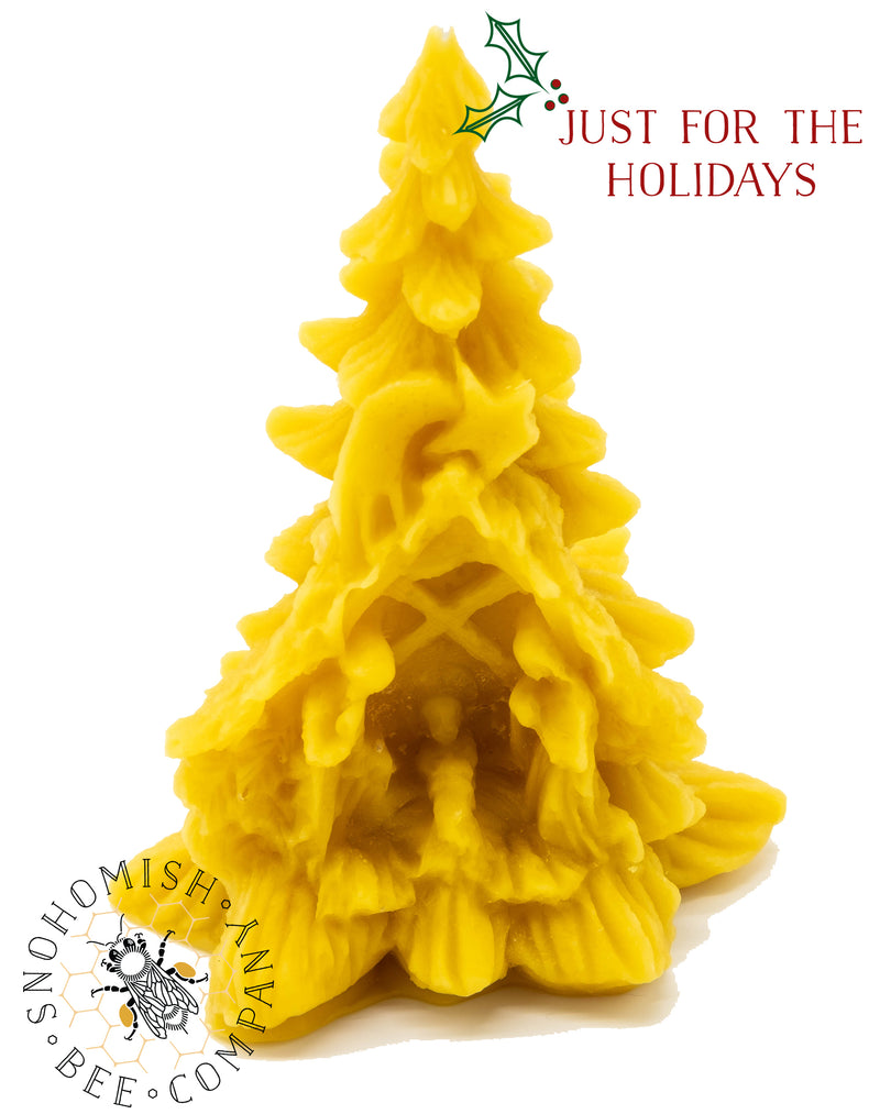Nativity Christmas Tree Beeswax Candle *Limited Time*