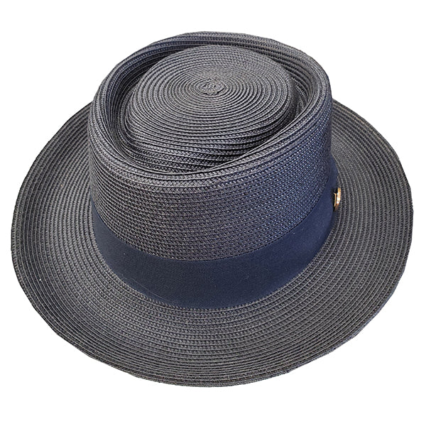 Bruno Capelo Monoco Straw Pork Pie Hat
