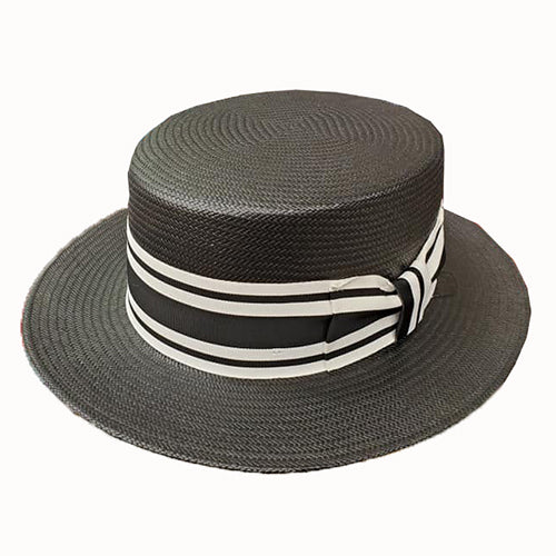 Capas Shantung Boater Straw Hat