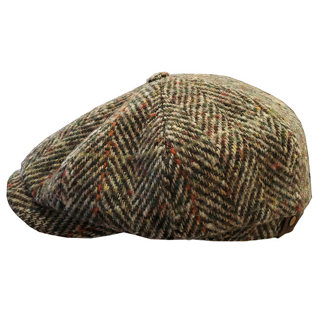 German Stetson Delta 8/4 Wool Herringbone Cap