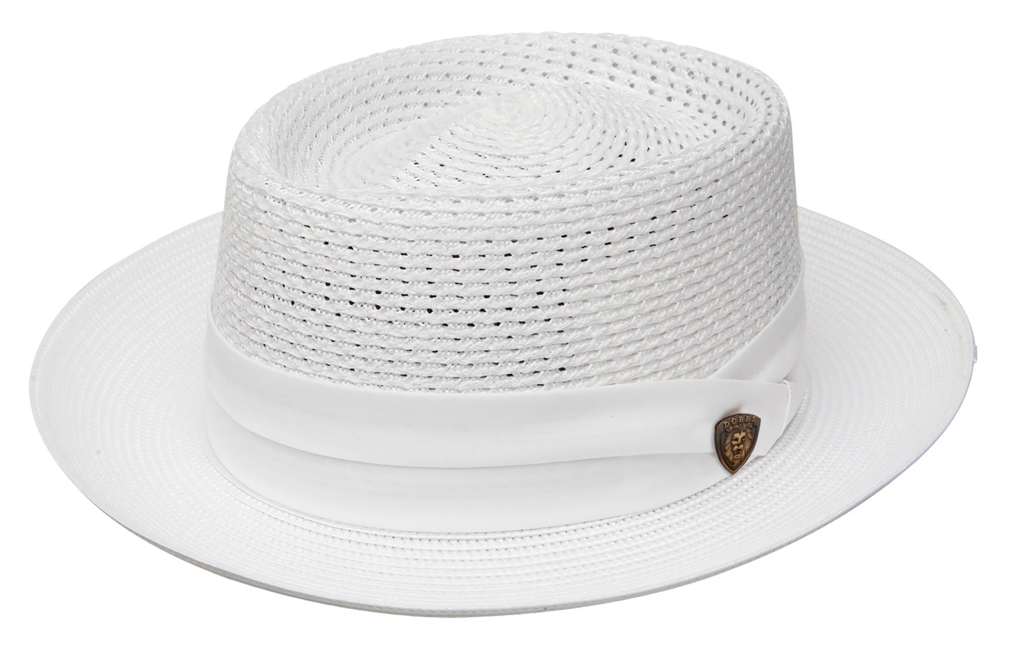 Dobbs Bishop Straw Pork Pie Hat